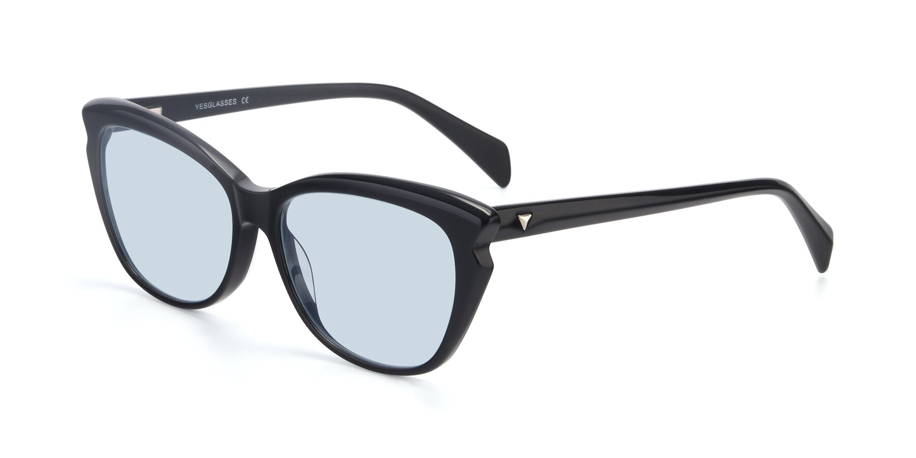 Angle of 17629 in Black with Light Blue Tinted Lenses
