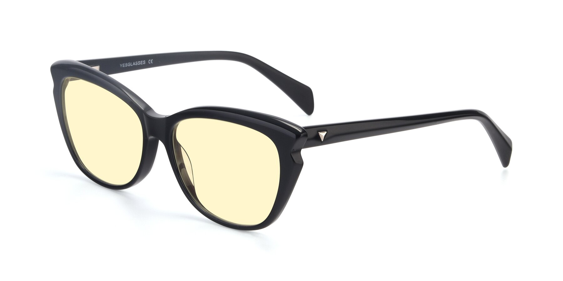 Angle of 17629 in Black with Light Yellow Tinted Lenses
