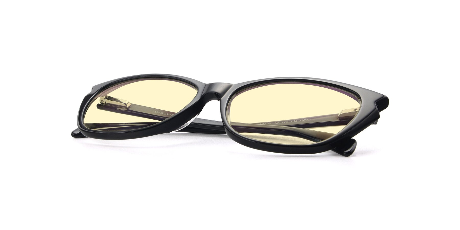 View of 17629 in Black with Light Yellow Tinted Lenses