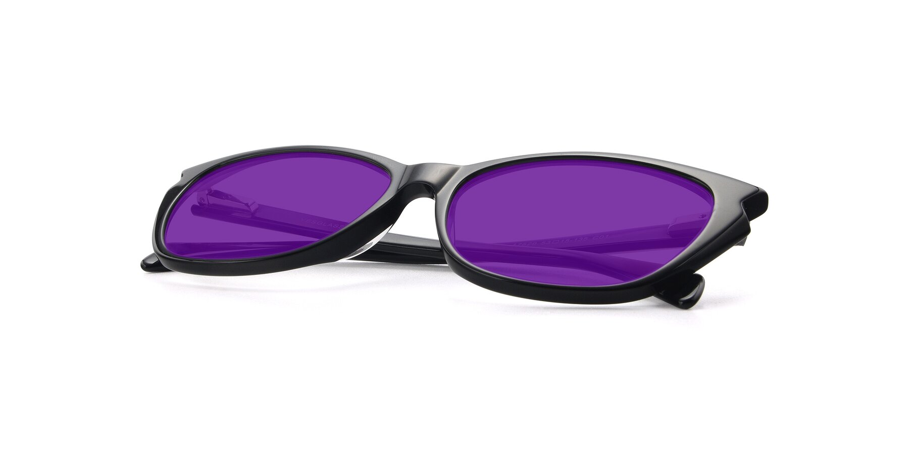 View of 17629 in Black with Purple Tinted Lenses