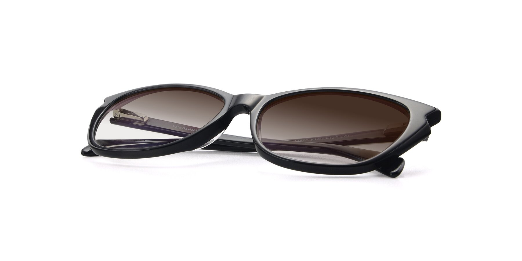 View of 17629 in Black with Brown Gradient Lenses