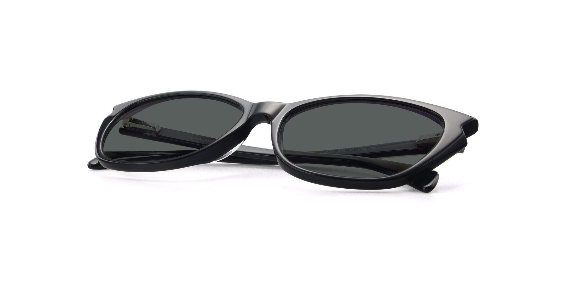 View of 17629 in Black with Gray Polarized Lenses