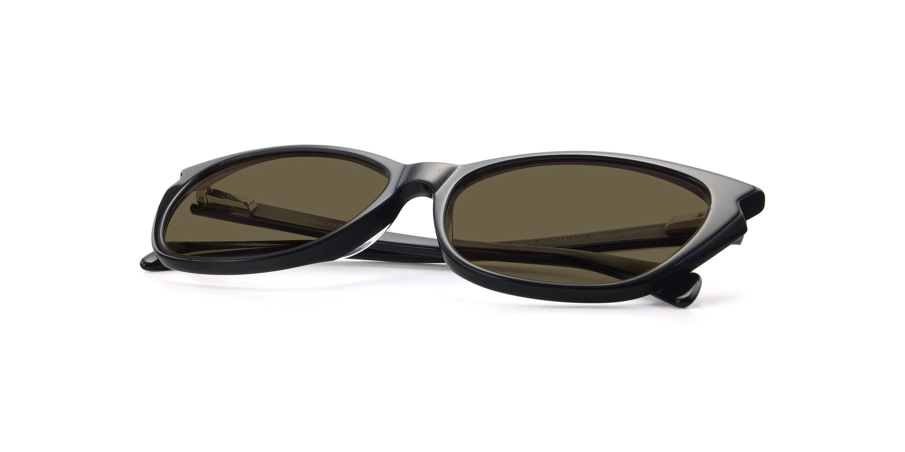 View of 17629 in Black with Brown Polarized Lenses