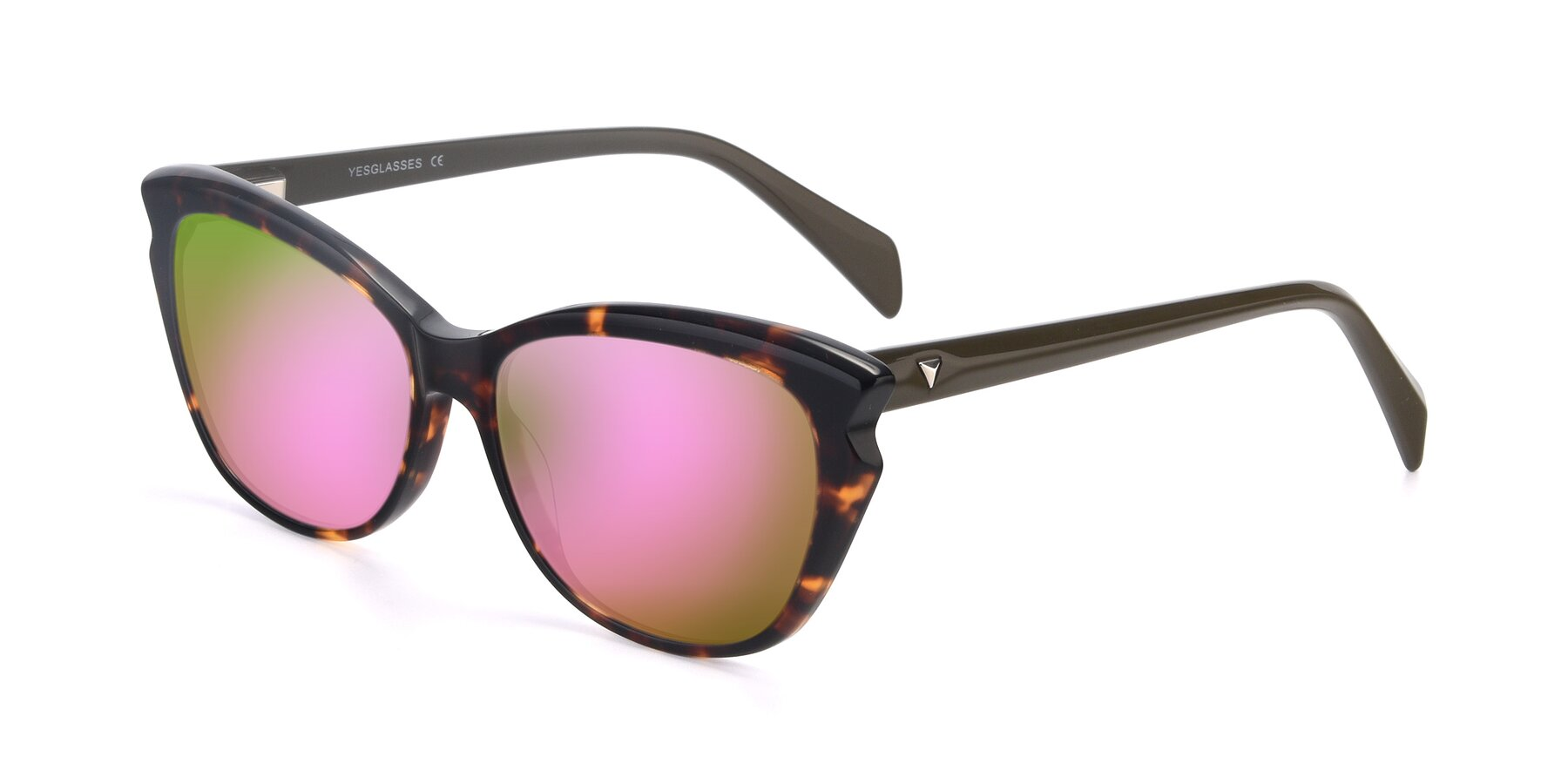 Angle of 17629 in Tortoise with Pink Mirrored Lenses