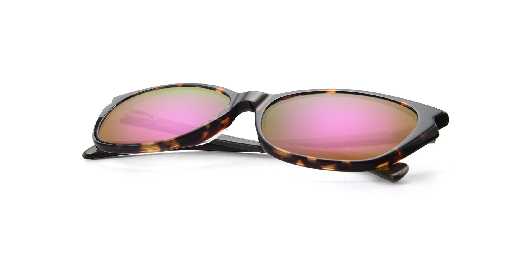 View of 17629 in Tortoise with Pink Mirrored Lenses