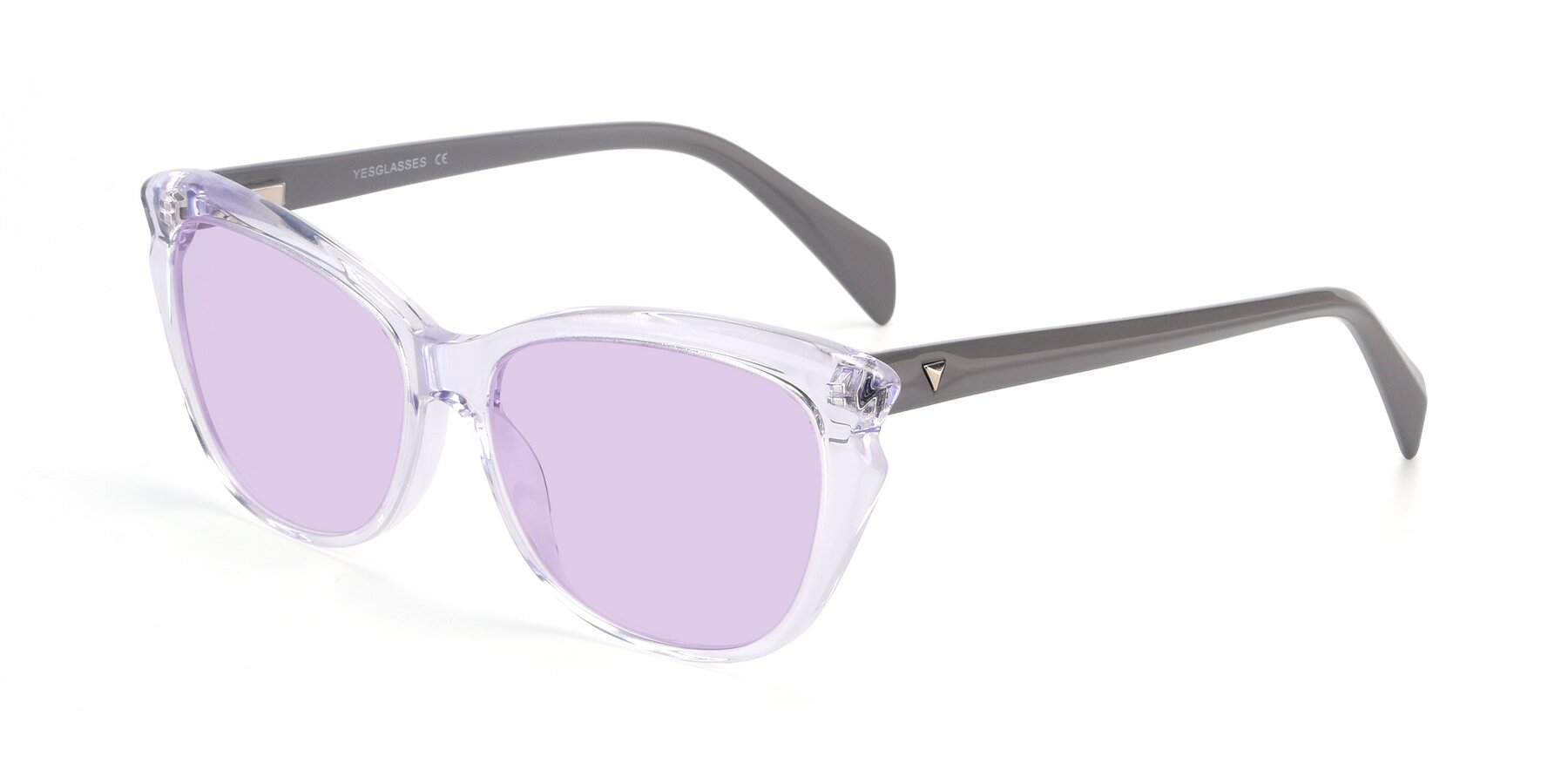 Angle of 17629 in Clear with Light Purple Tinted Lenses