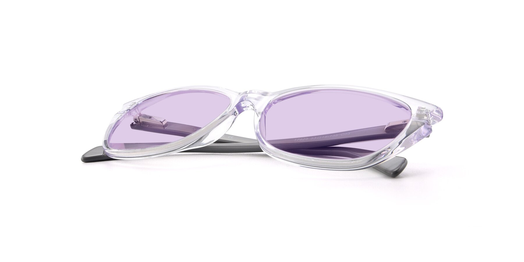 View of 17629 in Clear with Light Purple Tinted Lenses