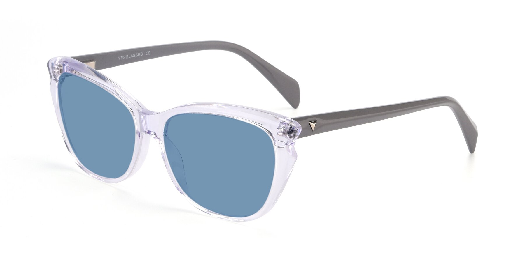 Angle of 17629 in Clear with Medium Blue Tinted Lenses