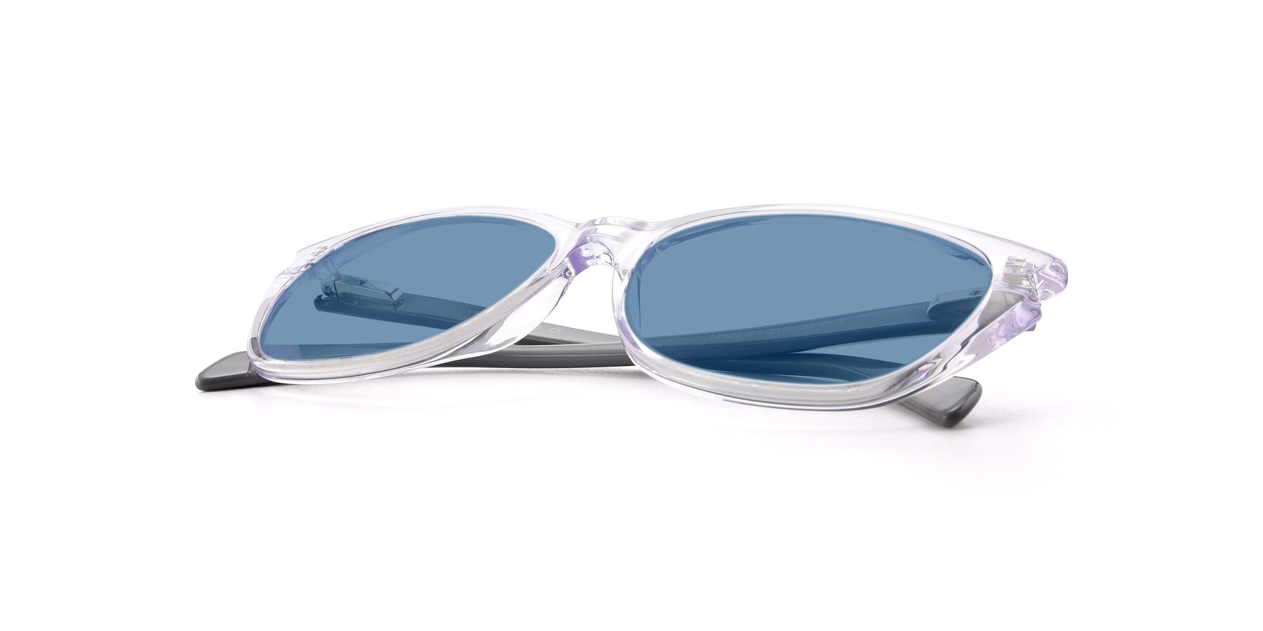 View of 17629 in Clear with Medium Blue Tinted Lenses