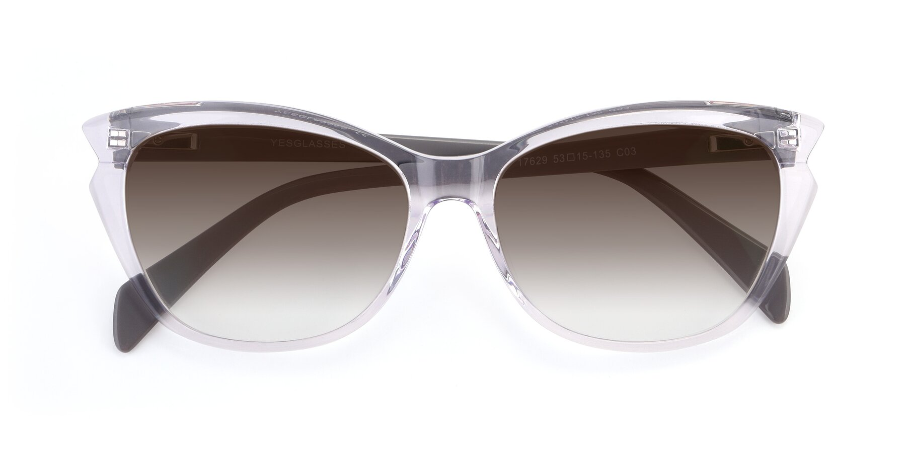 Folded Front of 17629 in Clear with Brown Gradient Lenses