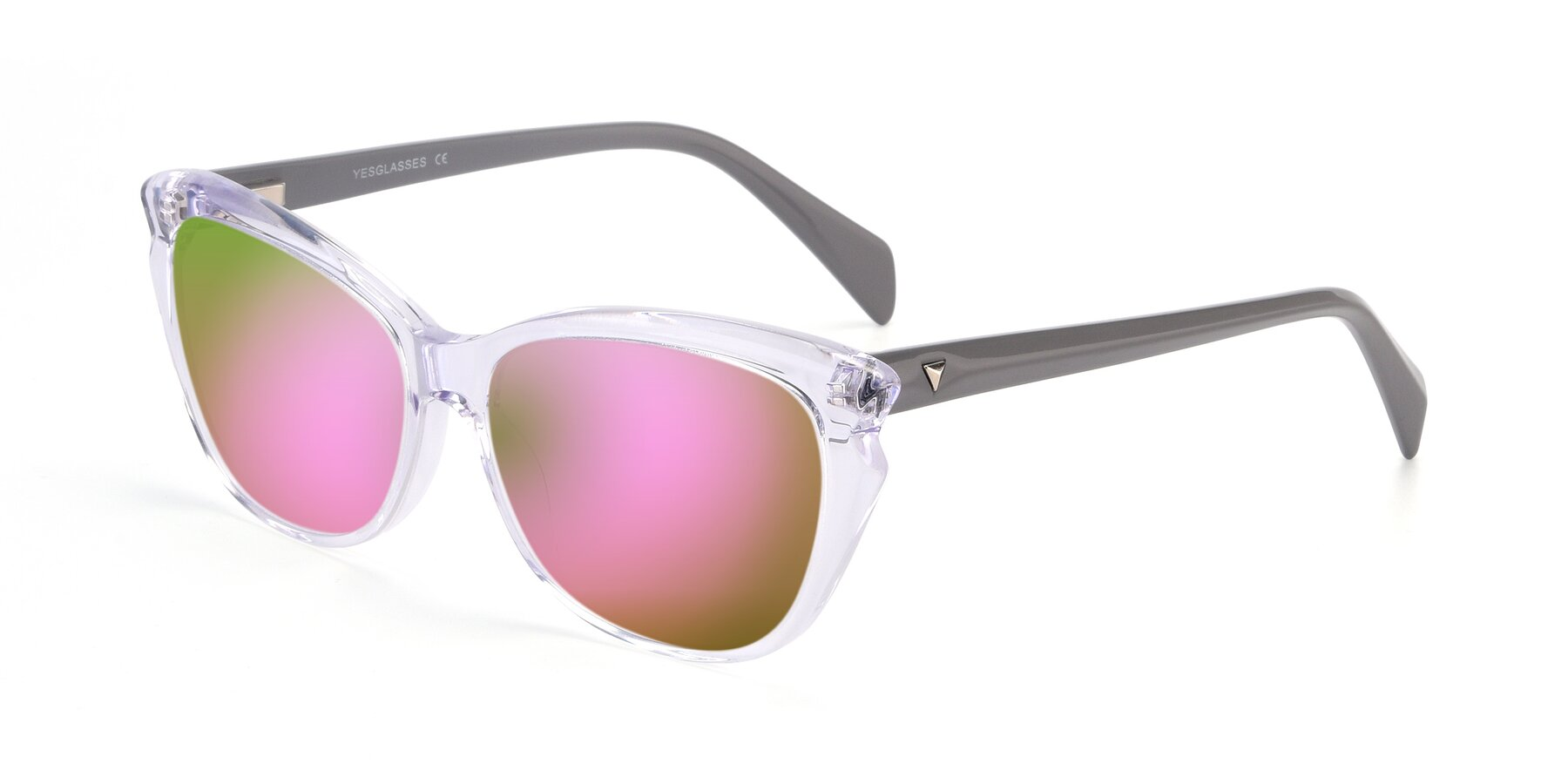 Angle of 17629 in Clear with Pink Mirrored Lenses