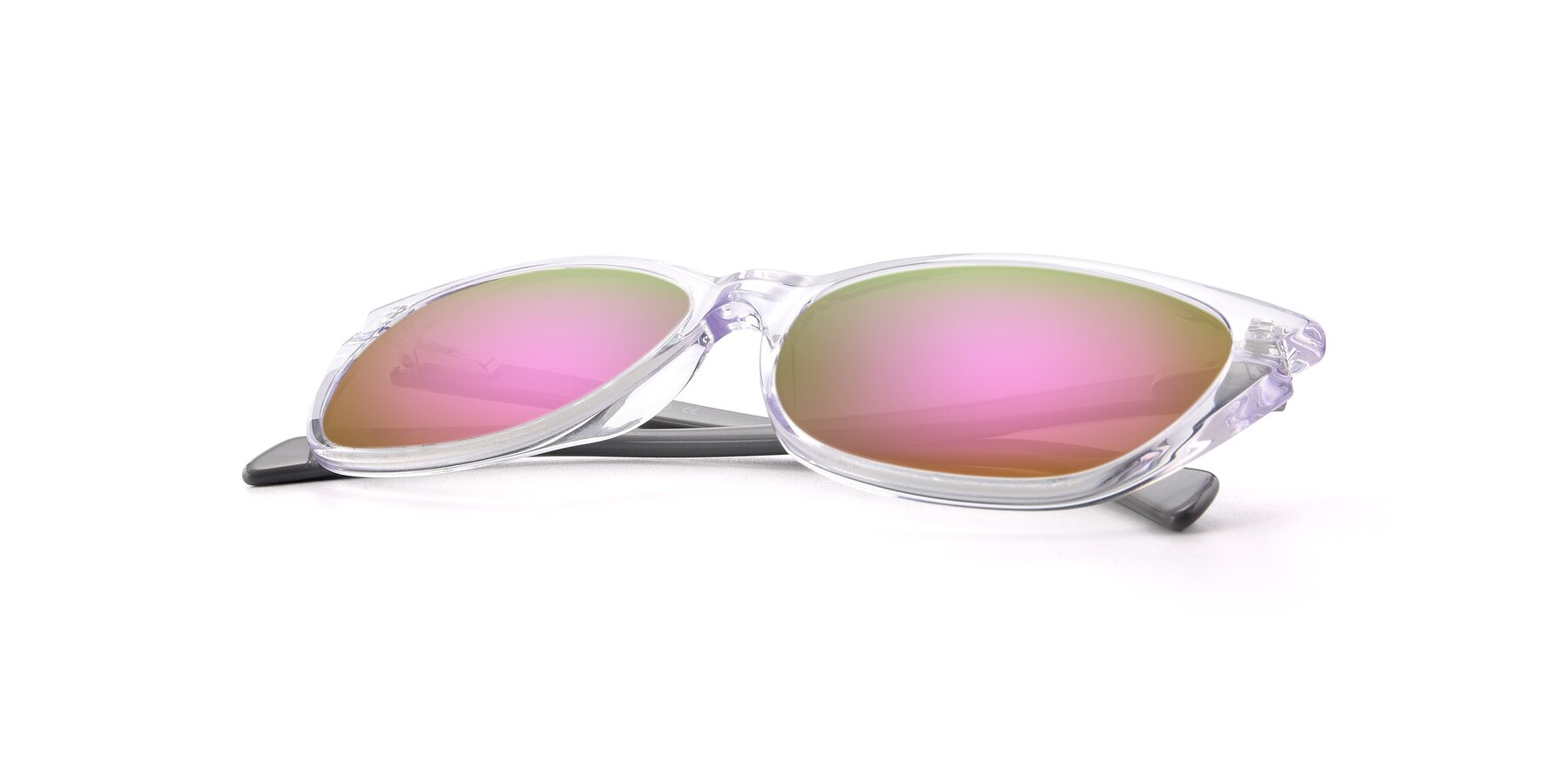 View of 17629 in Clear with Pink Mirrored Lenses