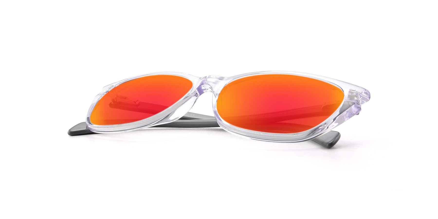 View of 17629 in Clear with Red Gold Mirrored Lenses
