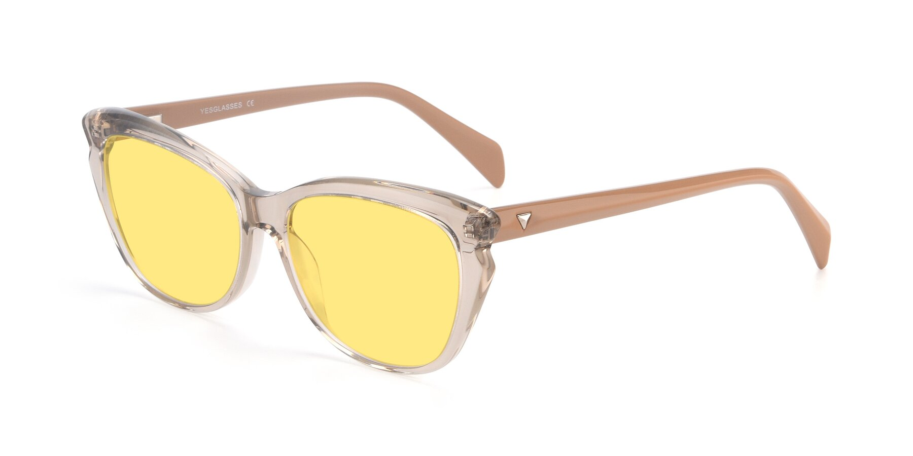 Angle of 17629 in Transparent Brown with Medium Yellow Tinted Lenses