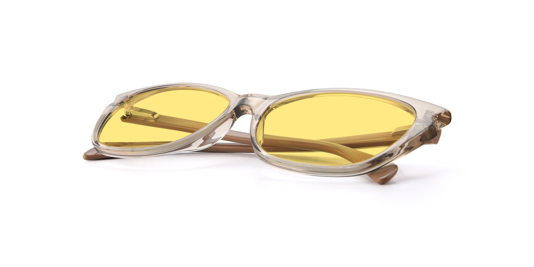 View of 17629 in Transparent Brown with Medium Yellow Tinted Lenses