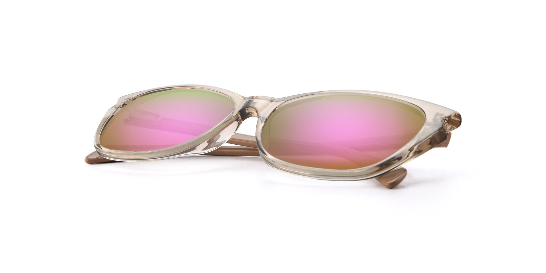 View of 17629 in Transparent Brown with Pink Mirrored Lenses