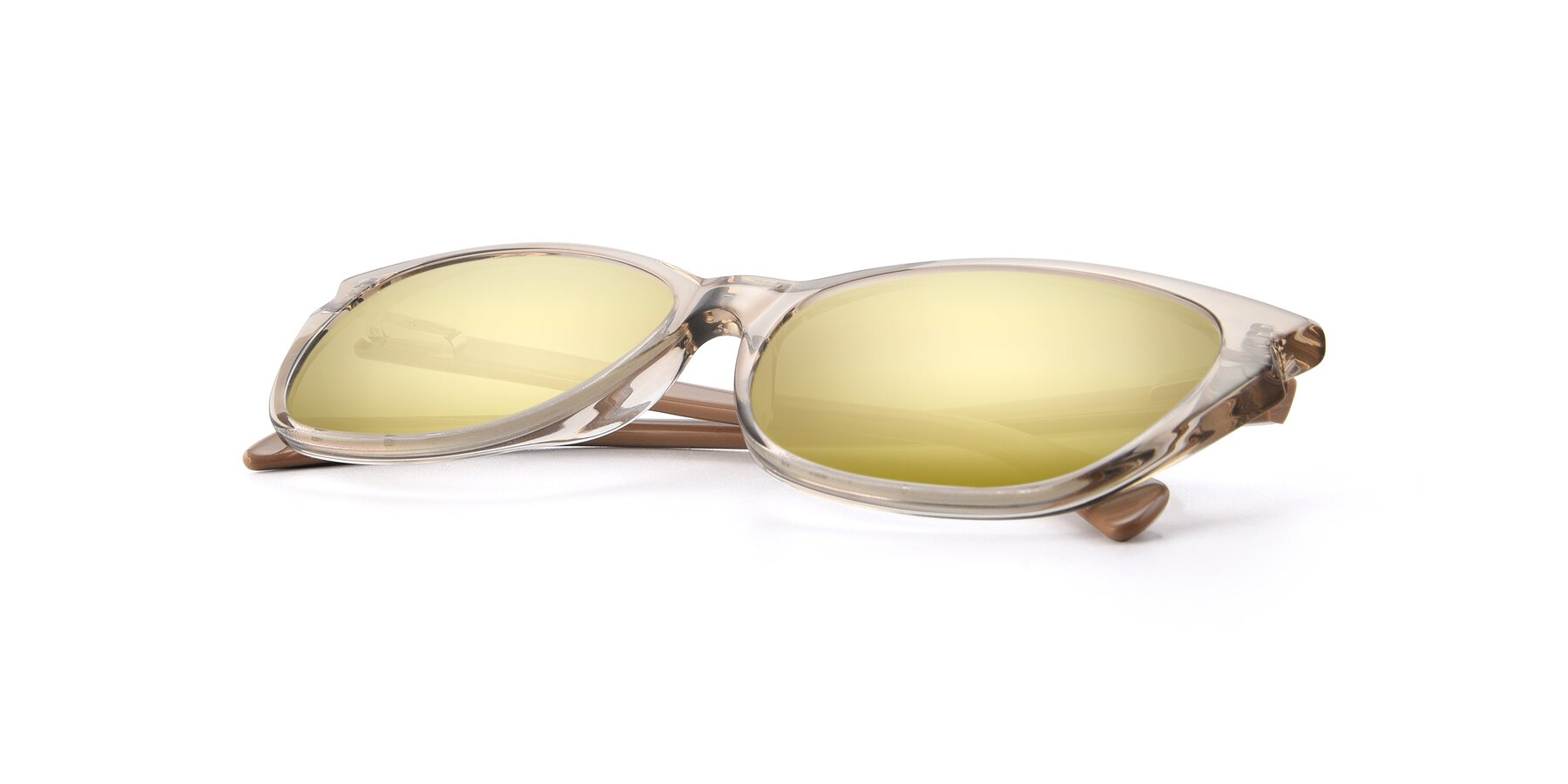 View of 17629 in Transparent Brown with Gold Mirrored Lenses