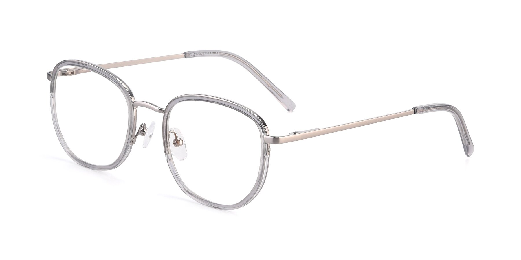 Angle of 17702 in Silver-Transparent with Clear Eyeglass Lenses