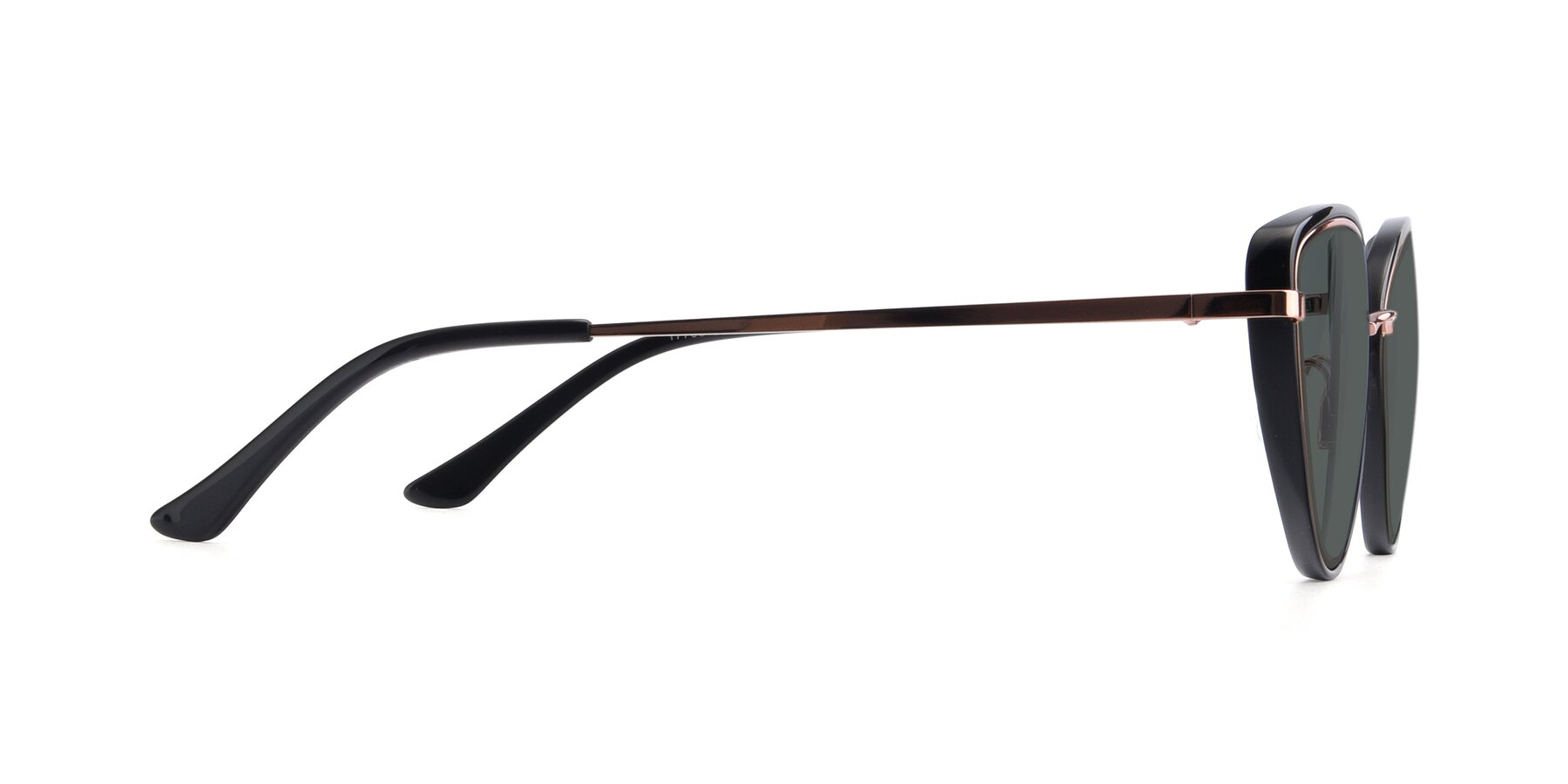 Side of 17706 in Black-Rose Gold with Gray Polarized Lenses