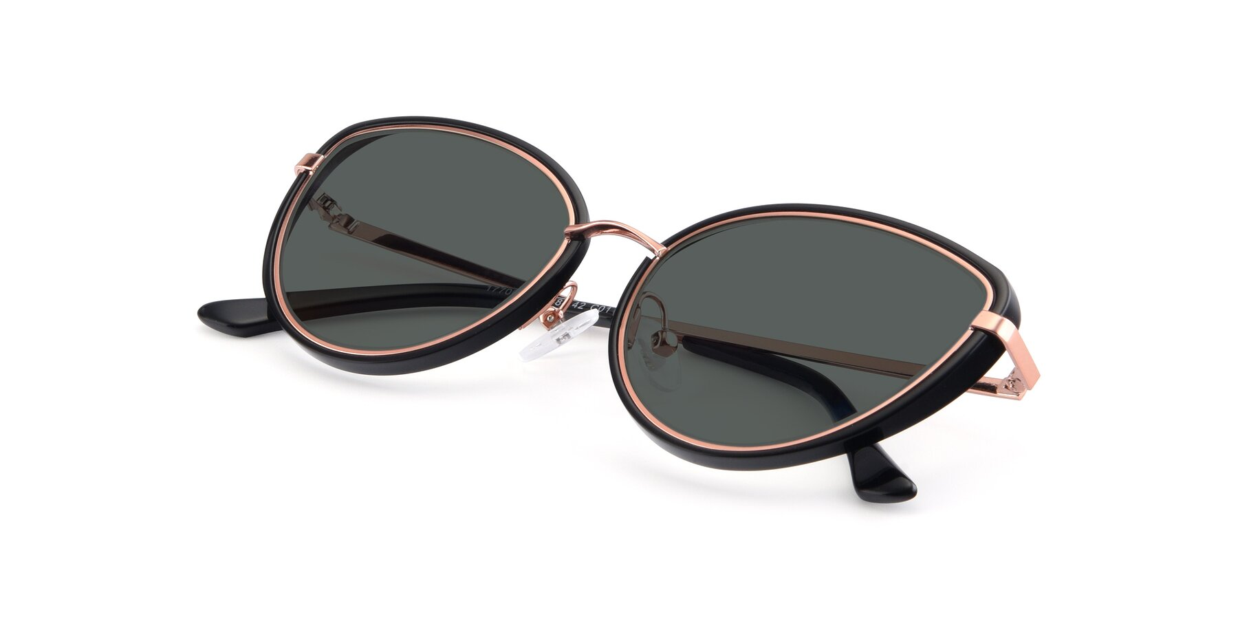 View of 17706 in Black-Rose Gold with Gray Polarized Lenses