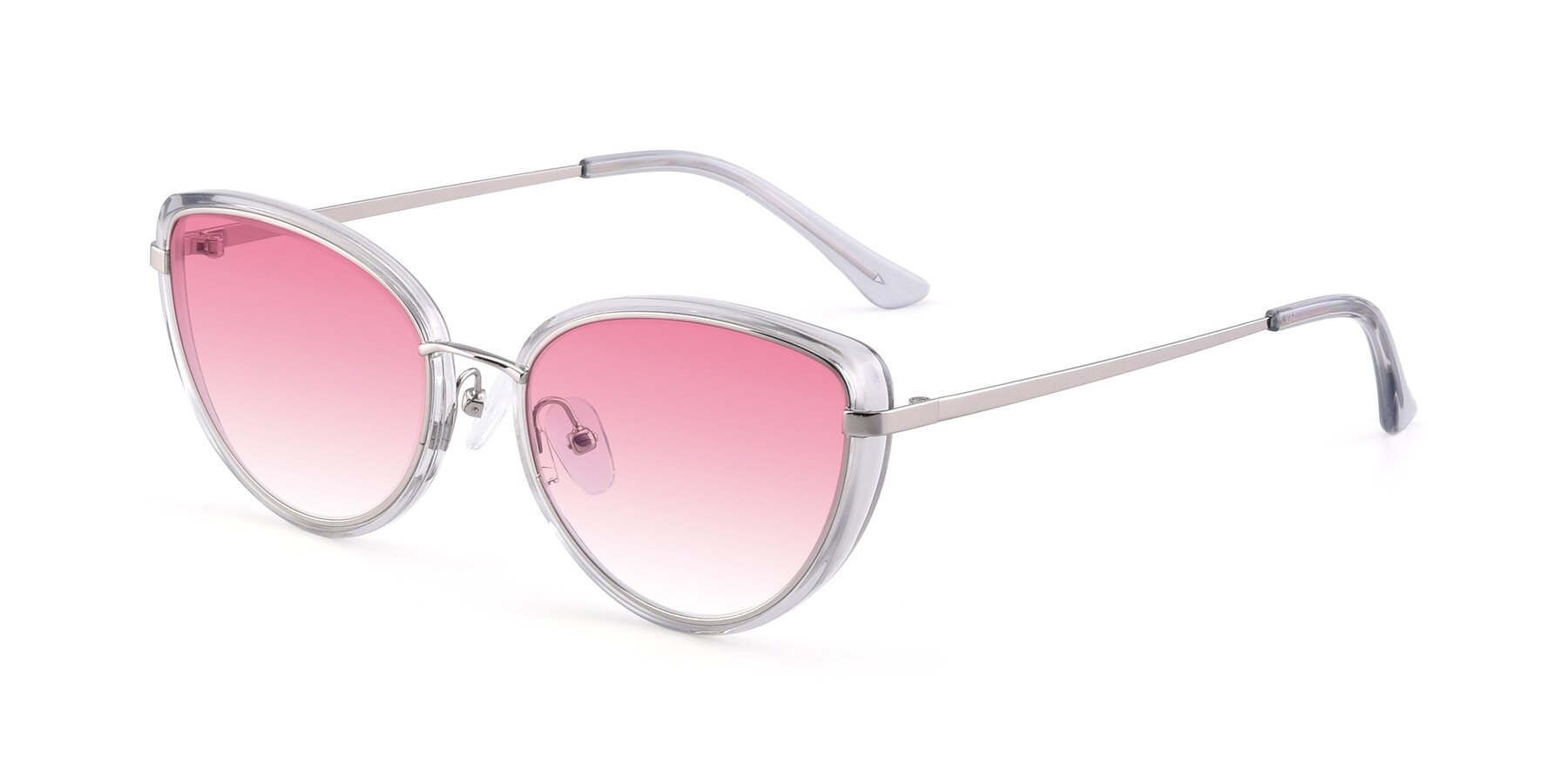 Angle of 17706 in Transparent Grey-Silver with Pink Gradient Lenses