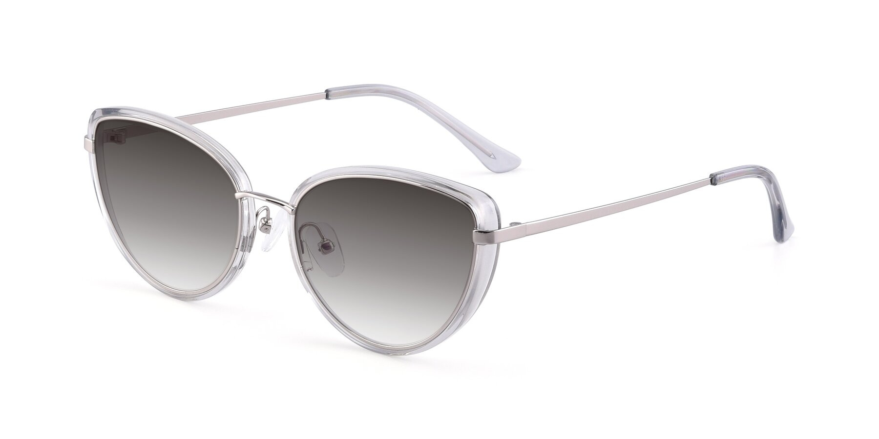 Angle of 17706 in Transparent Grey-Silver with Gray Gradient Lenses