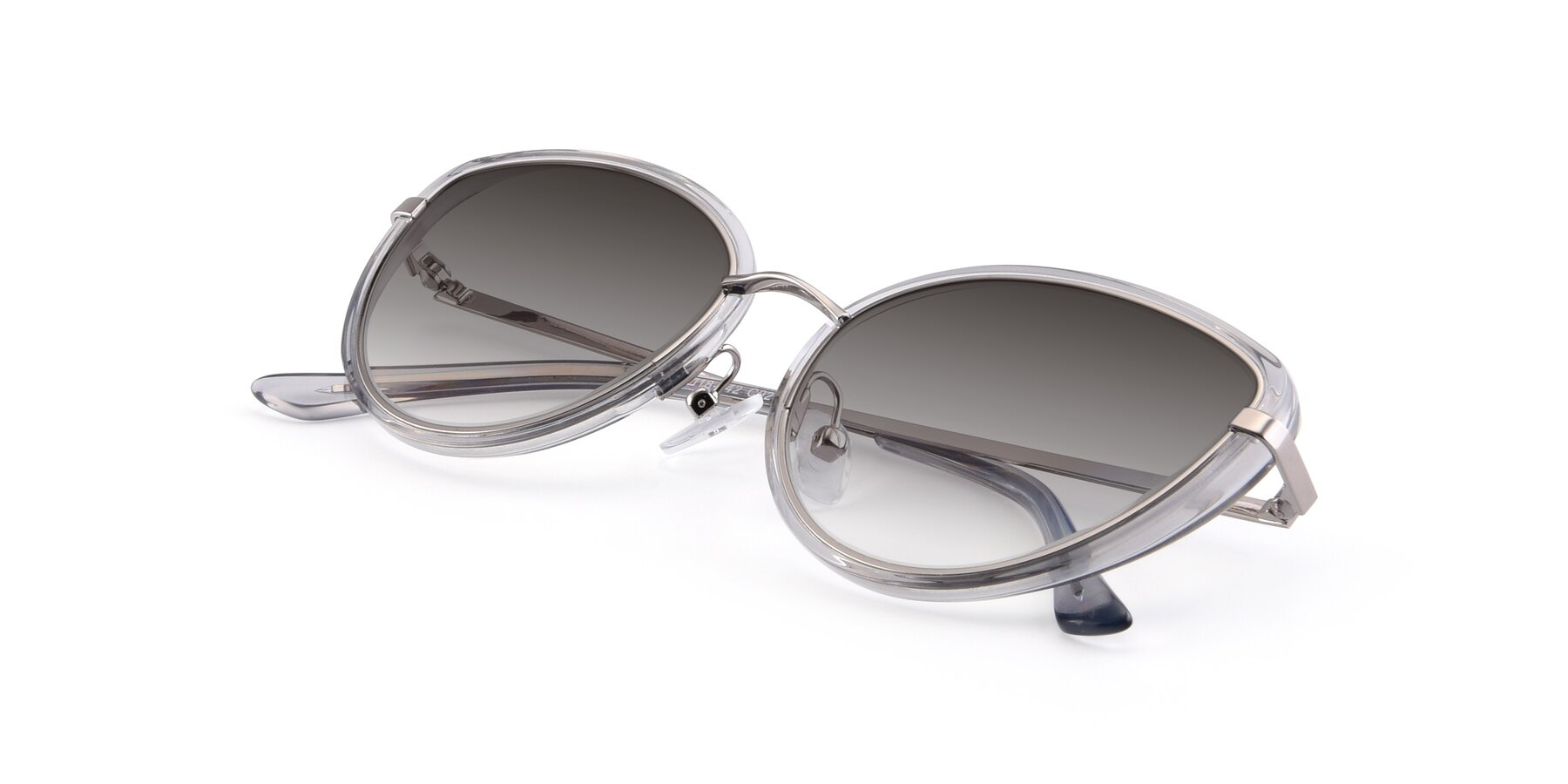 View of 17706 in Transparent Grey-Silver with Gray Gradient Lenses