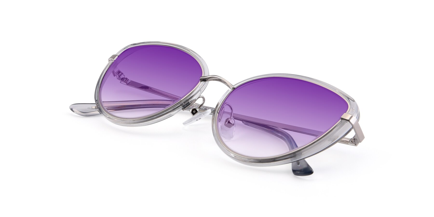 View of 17706 in Transparent Grey-Silver with Purple Gradient Lenses