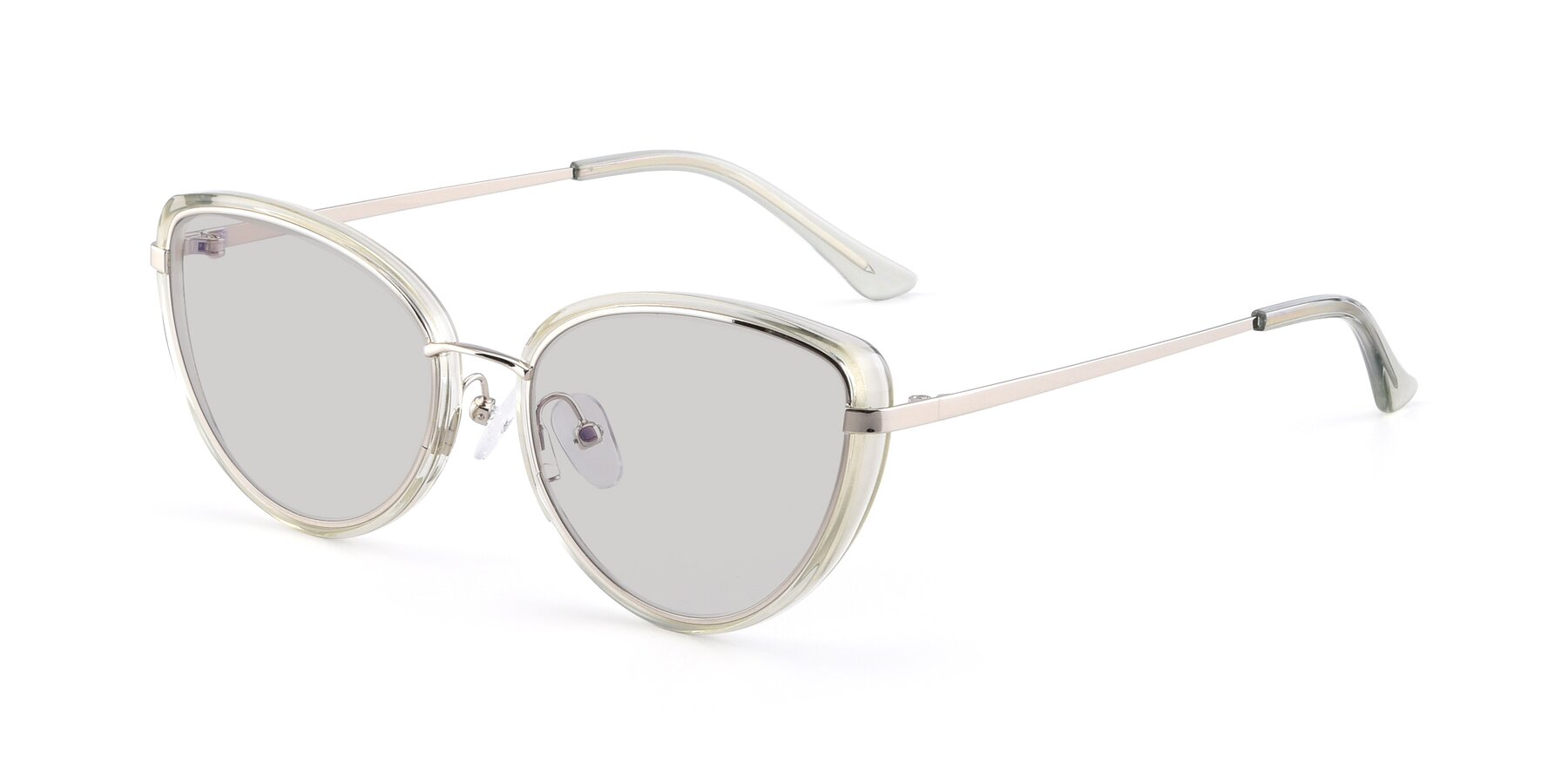 Angle of 17706 in Transparent Green-Silver with Light Gray Tinted Lenses