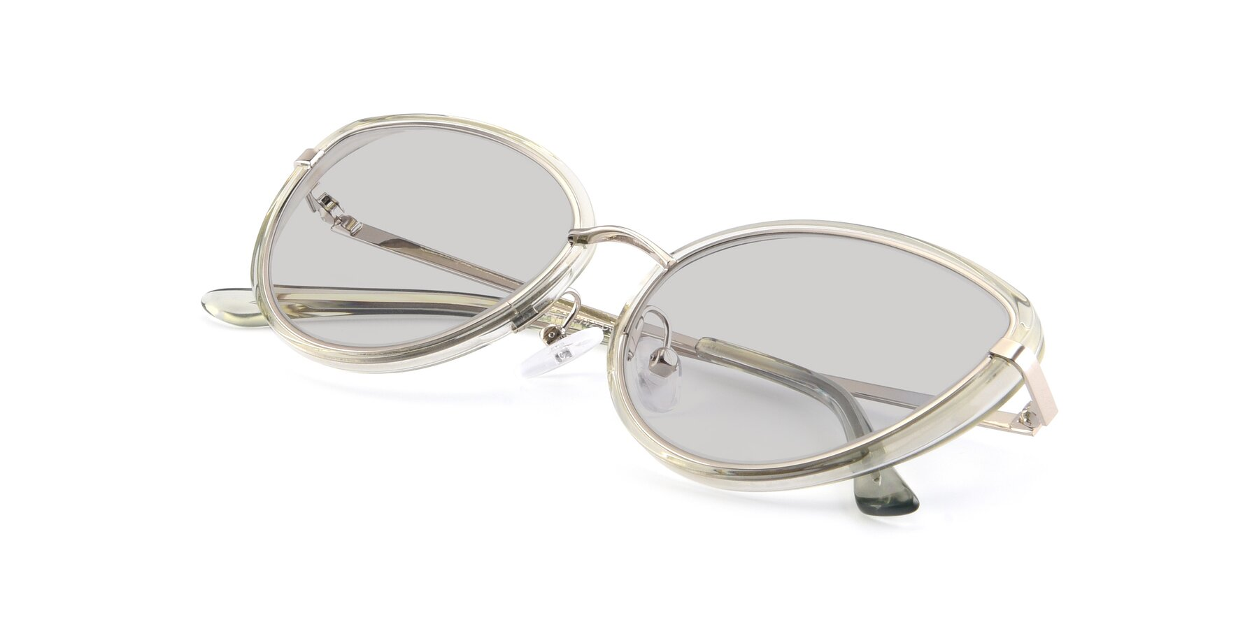 View of 17706 in Transparent Green-Silver with Light Gray Tinted Lenses