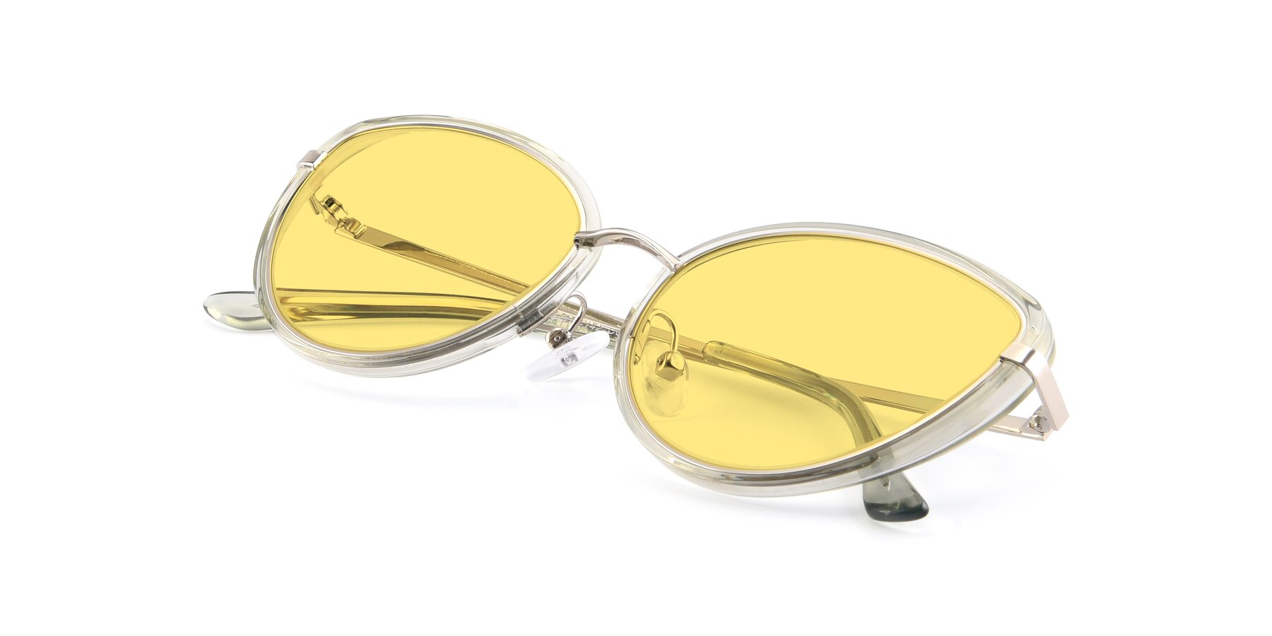 View of 17706 in Transparent Green-Silver with Medium Yellow Tinted Lenses