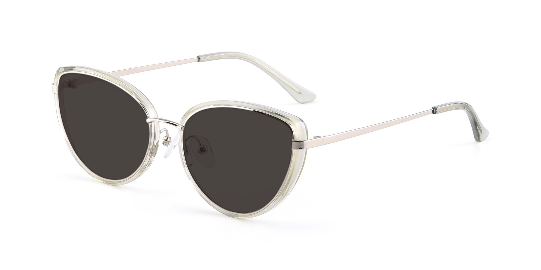 Angle of 17706 in Transparent Green-Silver with Gray Tinted Lenses