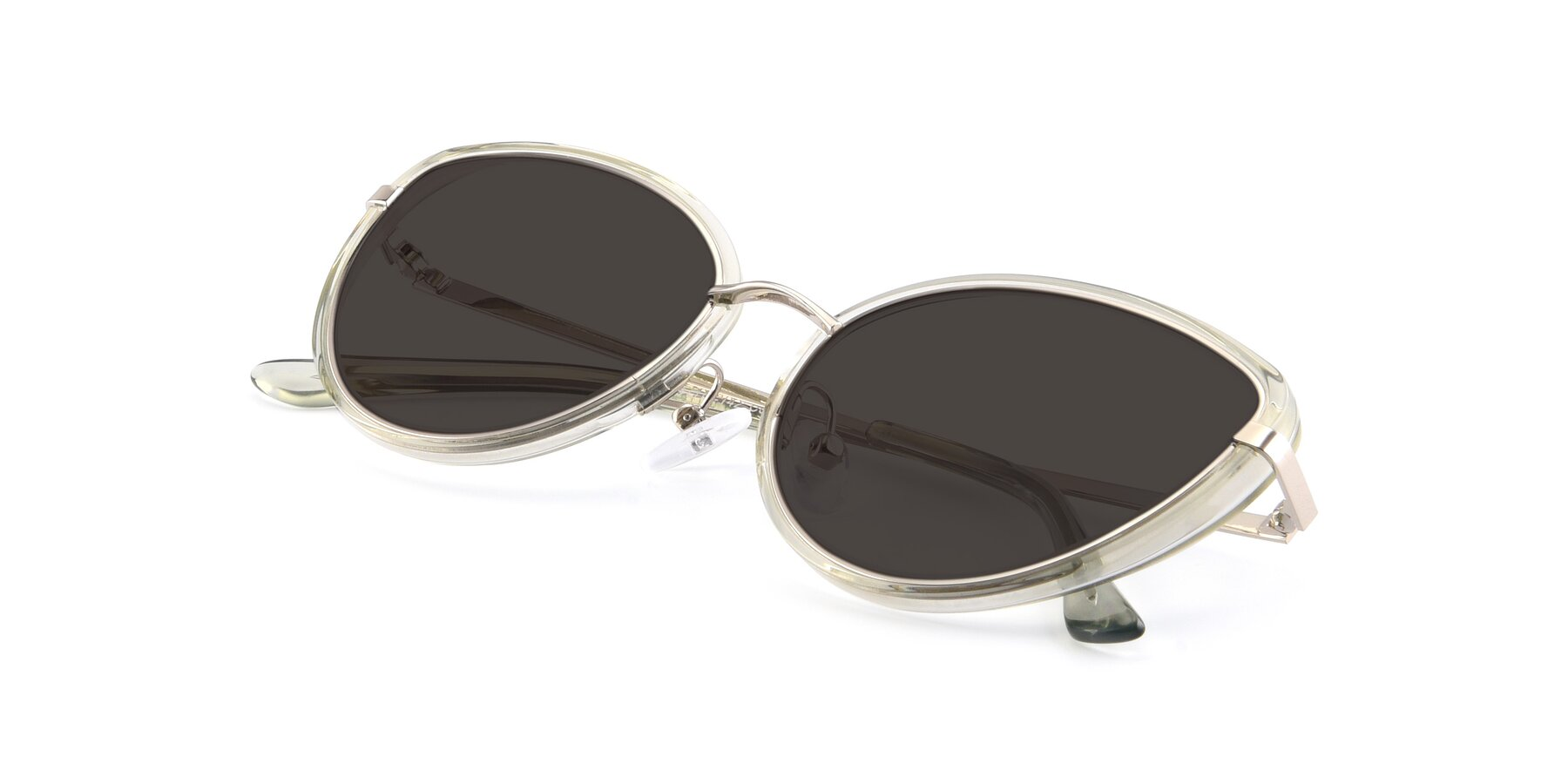 View of 17706 in Transparent Green-Silver with Gray Tinted Lenses