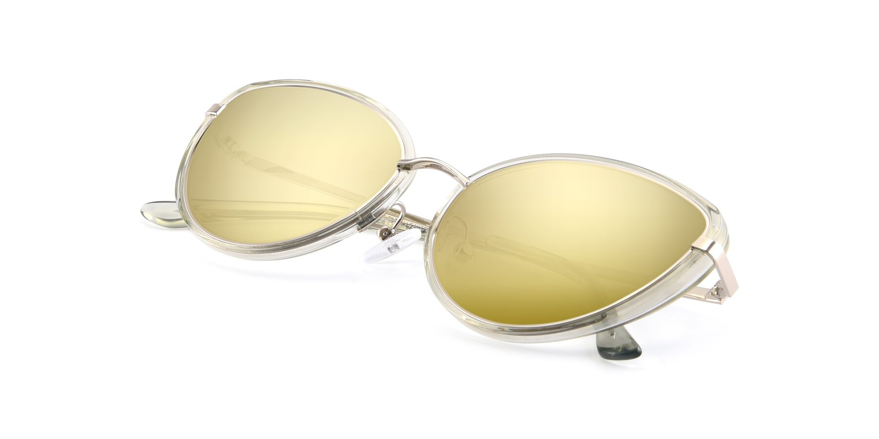View of 17706 in Transparent Green-Silver with Gold Mirrored Lenses