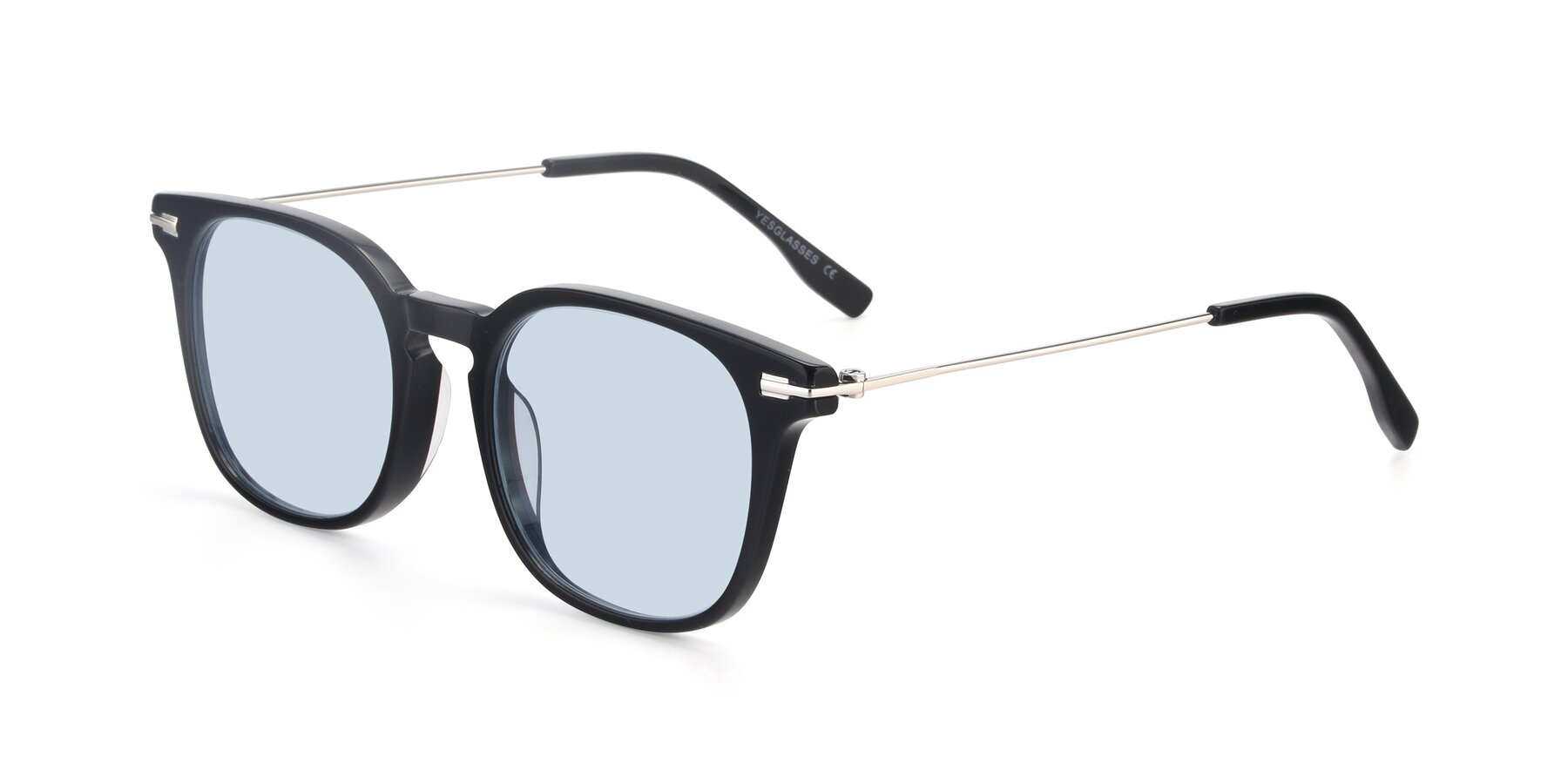 Angle of 17711 in Black with Light Blue Tinted Lenses