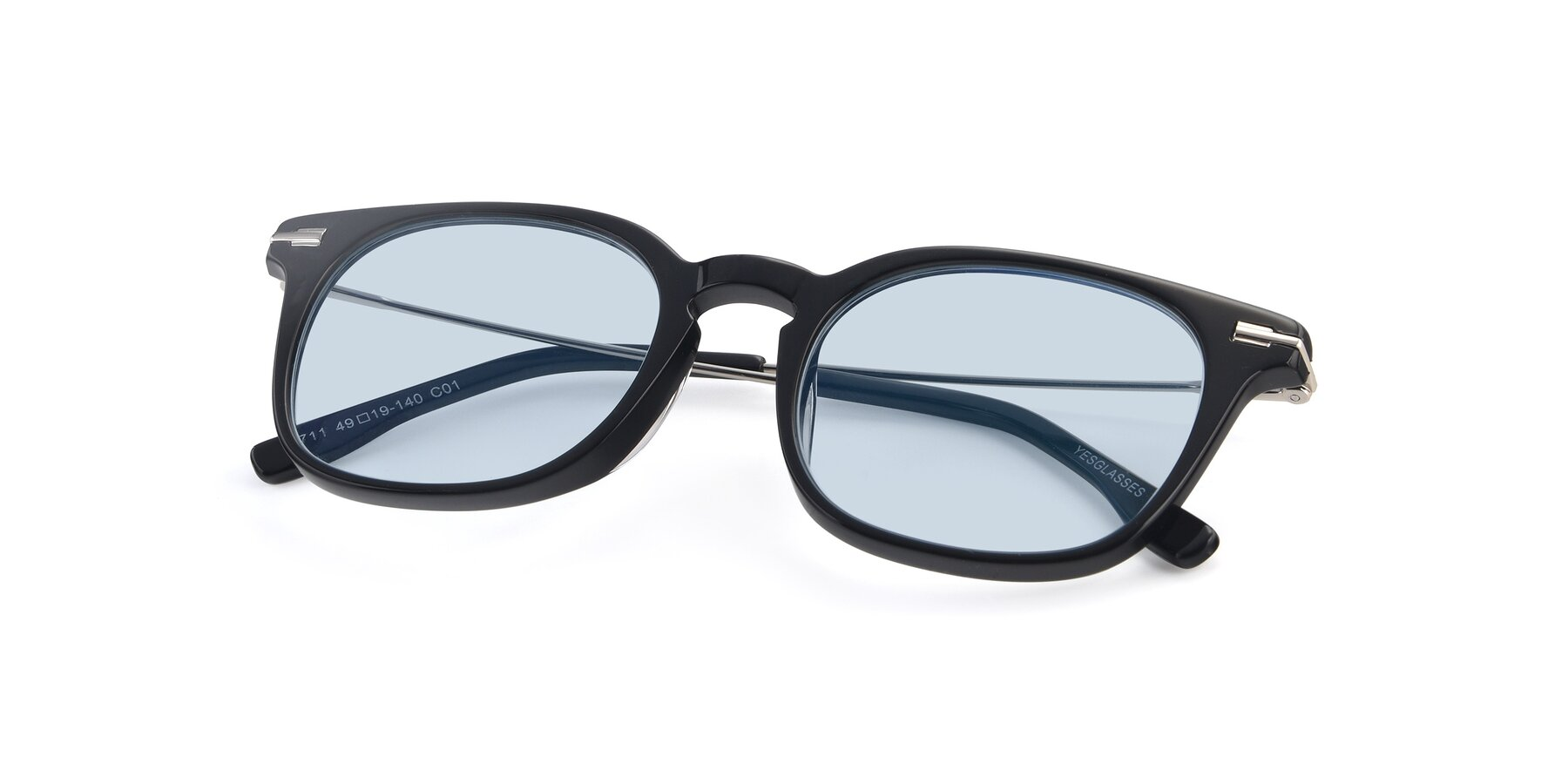 View of 17711 in Black with Light Blue Tinted Lenses