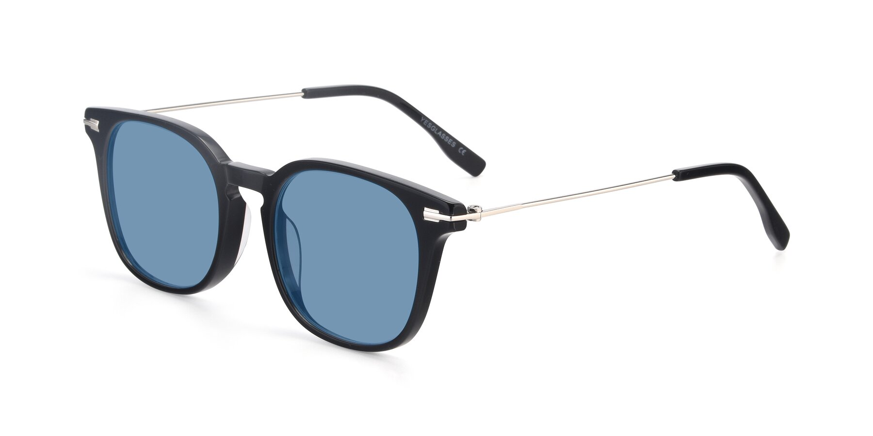 Angle of 17711 in Black with Medium Blue Tinted Lenses