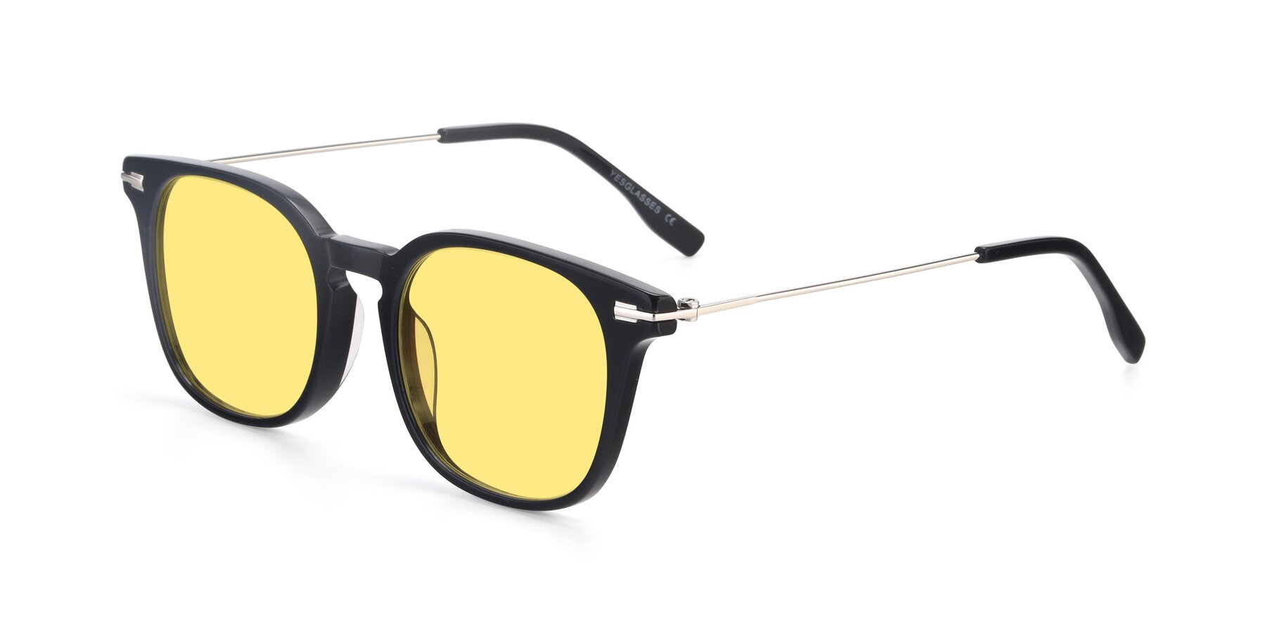 Angle of 17711 in Black with Medium Yellow Tinted Lenses