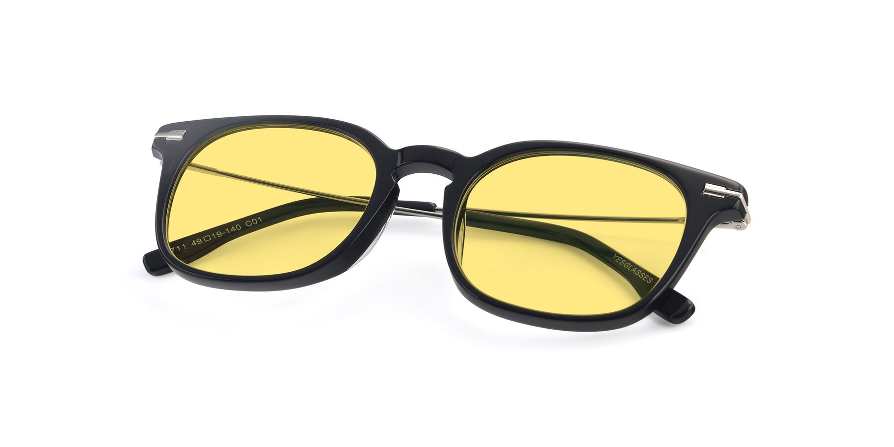 View of 17711 in Black with Medium Yellow Tinted Lenses