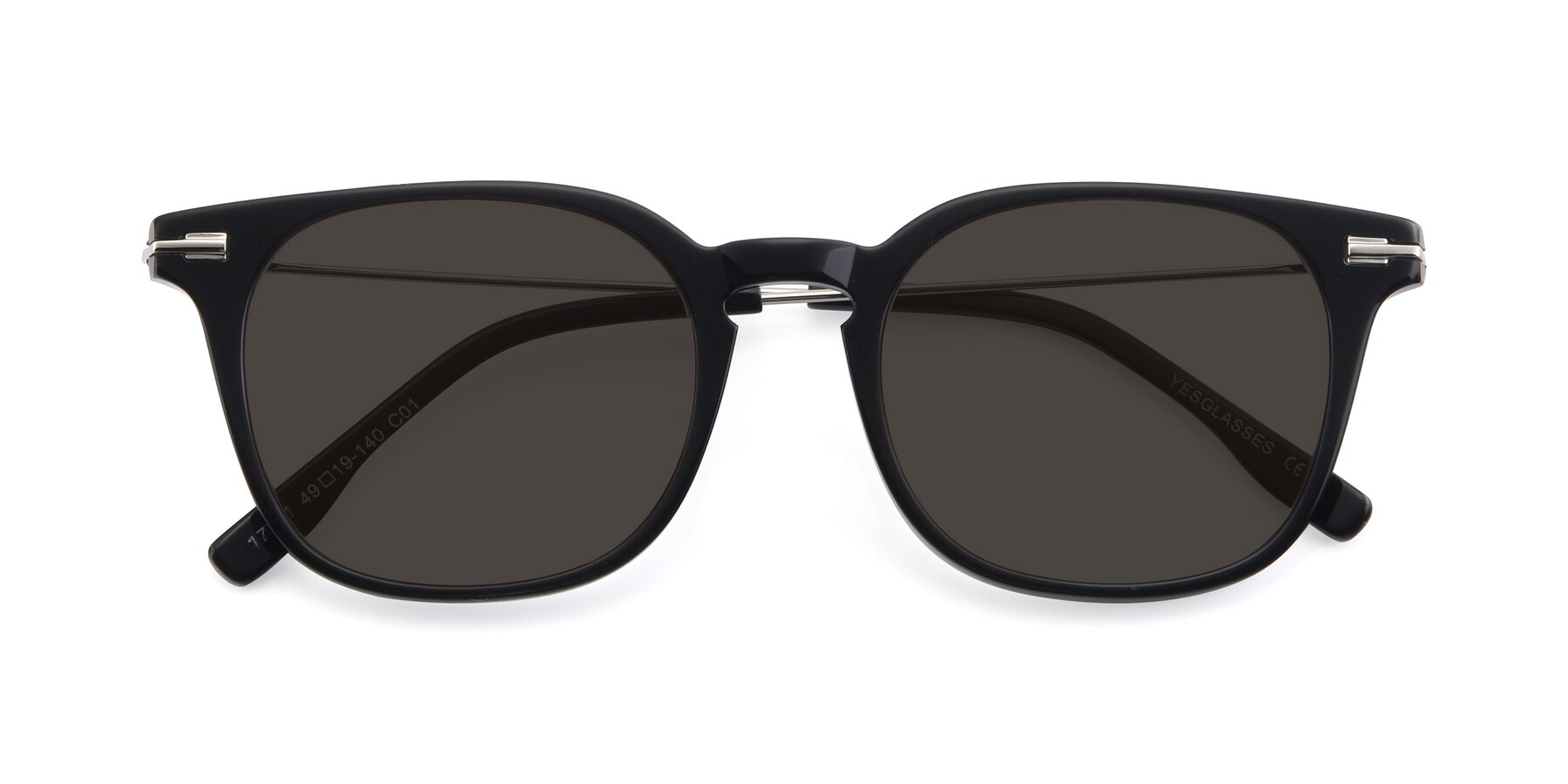 Folded Front of 17711 in Black with Gray Tinted Lenses