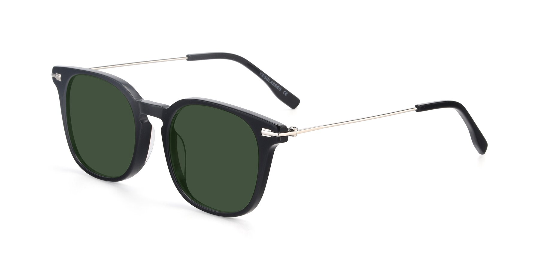 Angle of 17711 in Black with Green Tinted Lenses