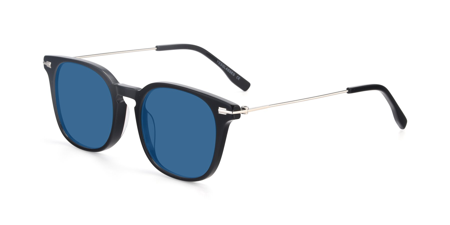 Angle of 17711 in Black with Blue Tinted Lenses