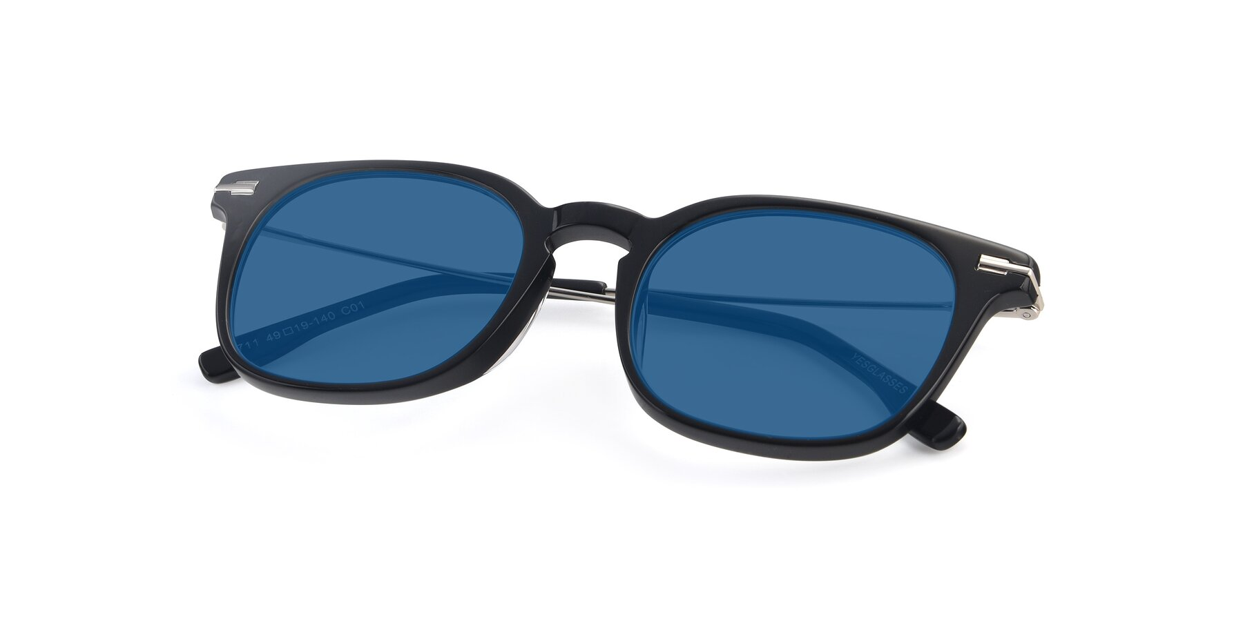 View of 17711 in Black with Blue Tinted Lenses