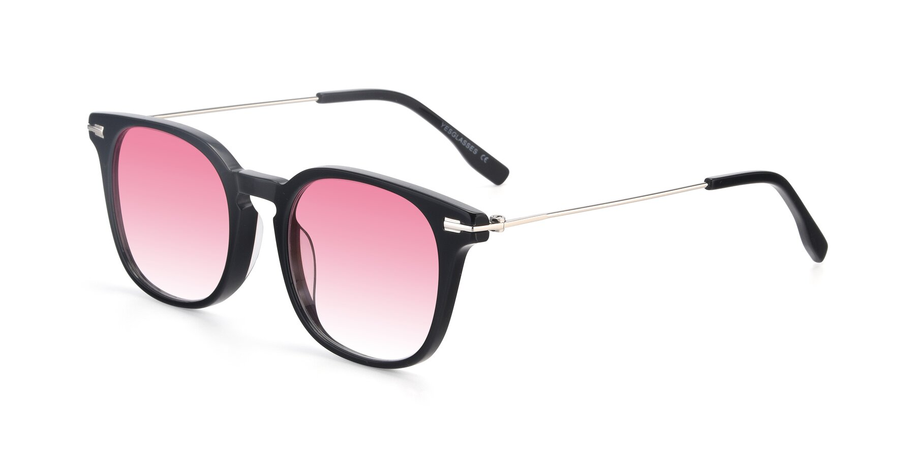 Angle of 17711 in Black with Pink Gradient Lenses