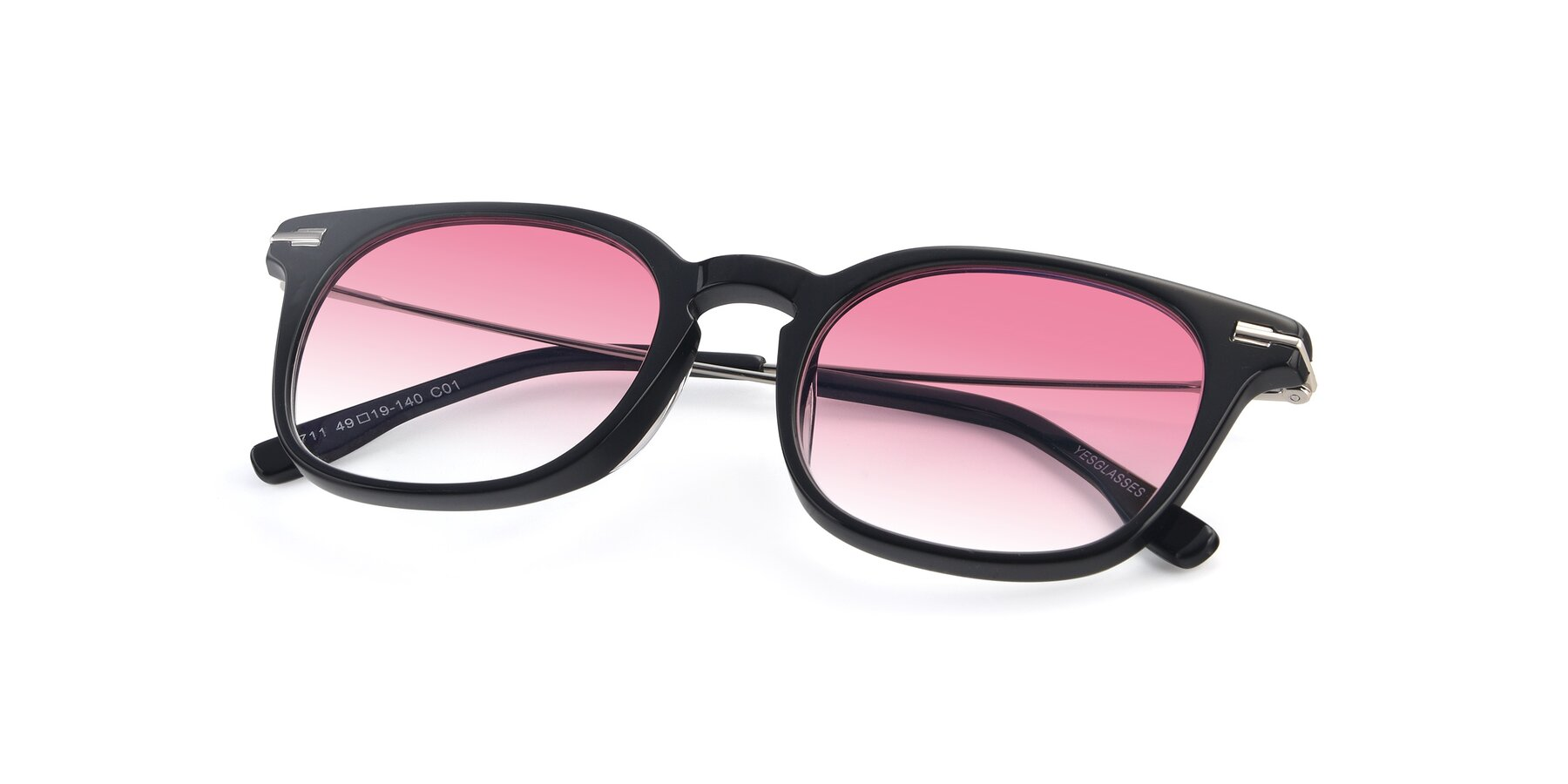 View of 17711 in Black with Pink Gradient Lenses