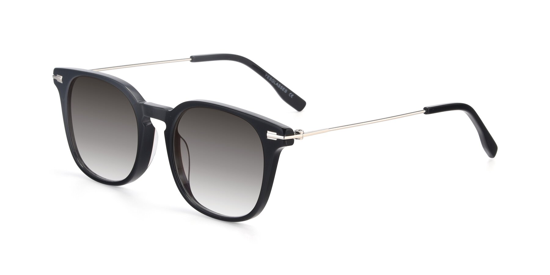 Angle of 17711 in Black with Gray Gradient Lenses