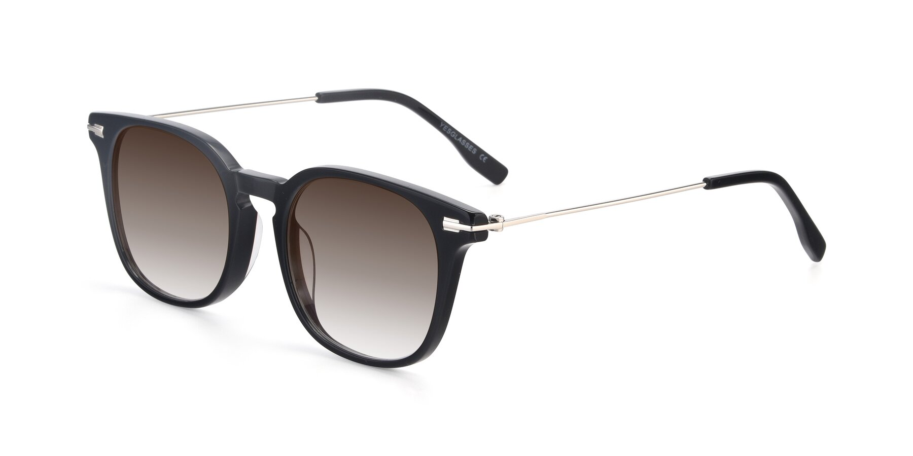 Angle of 17711 in Black with Brown Gradient Lenses