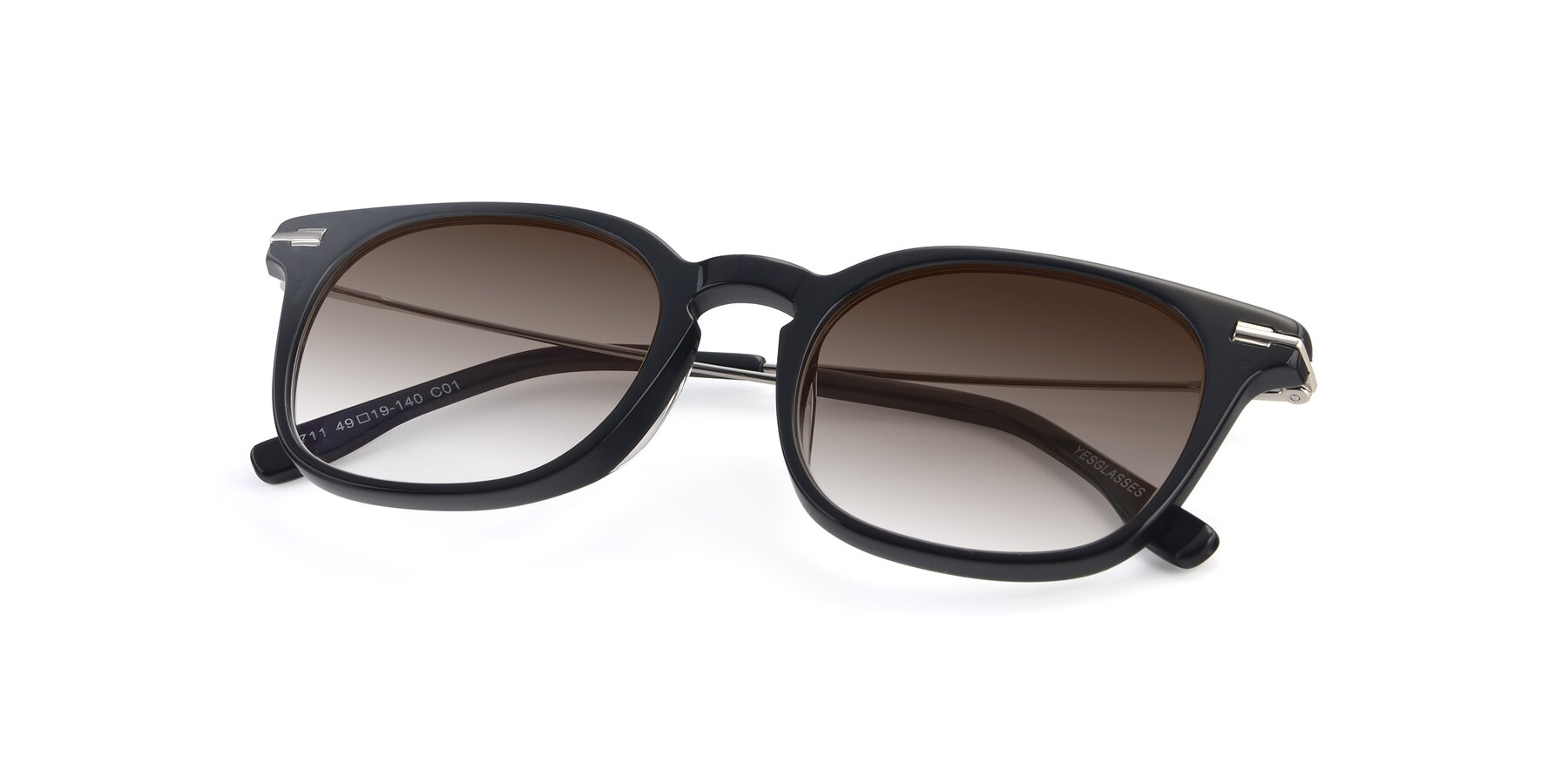 View of 17711 in Black with Brown Gradient Lenses