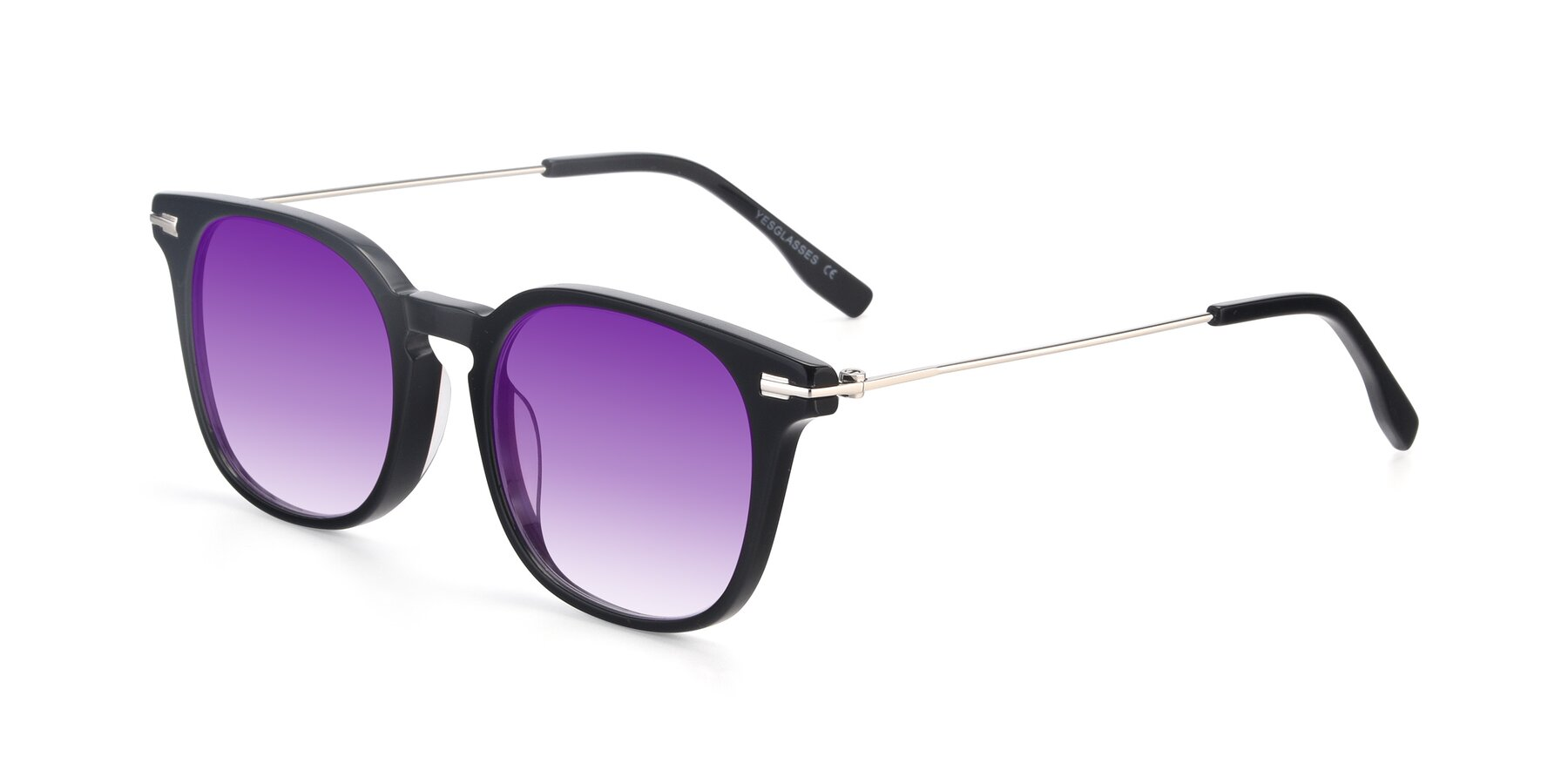 Angle of 17711 in Black with Purple Gradient Lenses