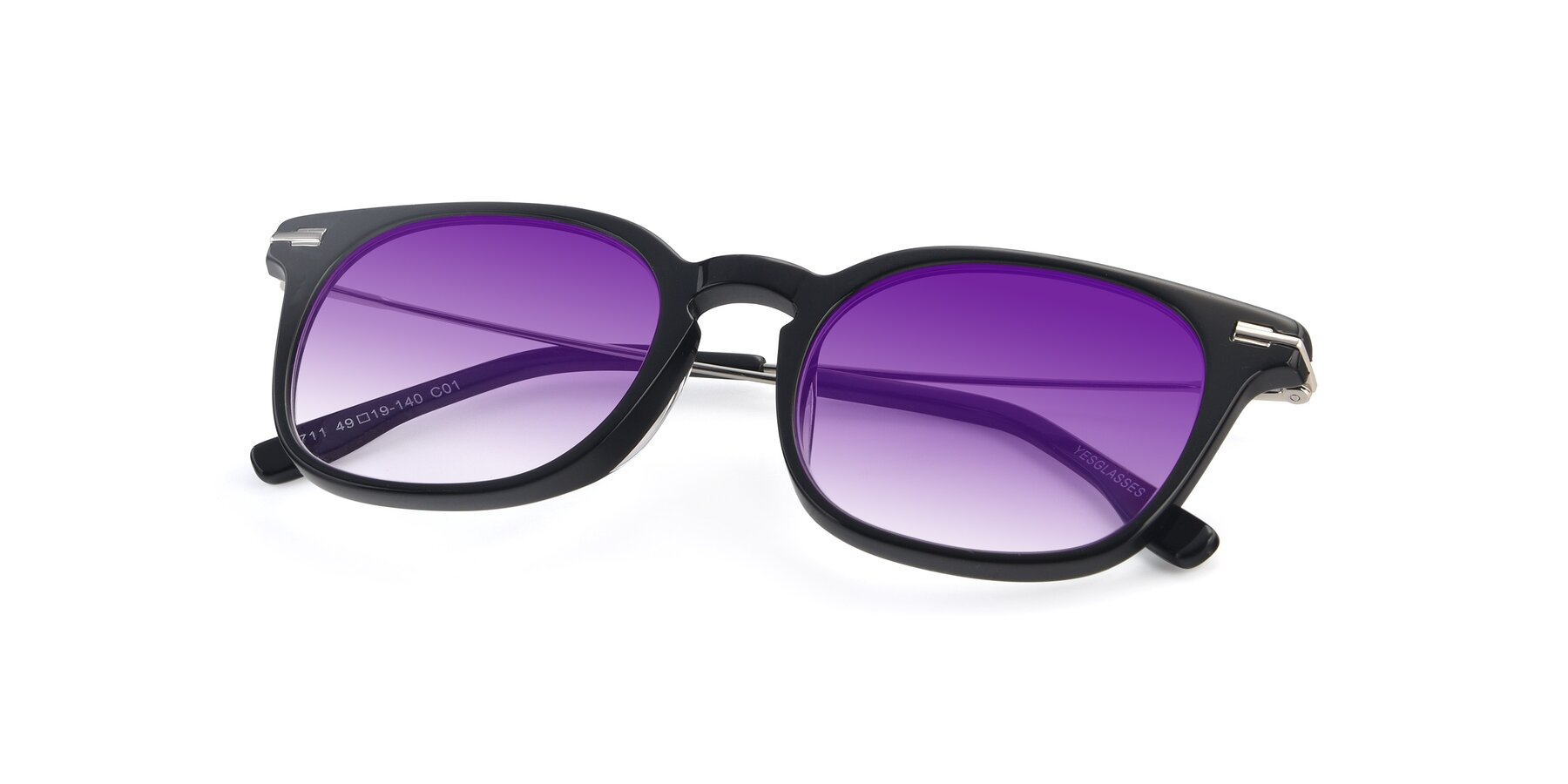 View of 17711 in Black with Purple Gradient Lenses
